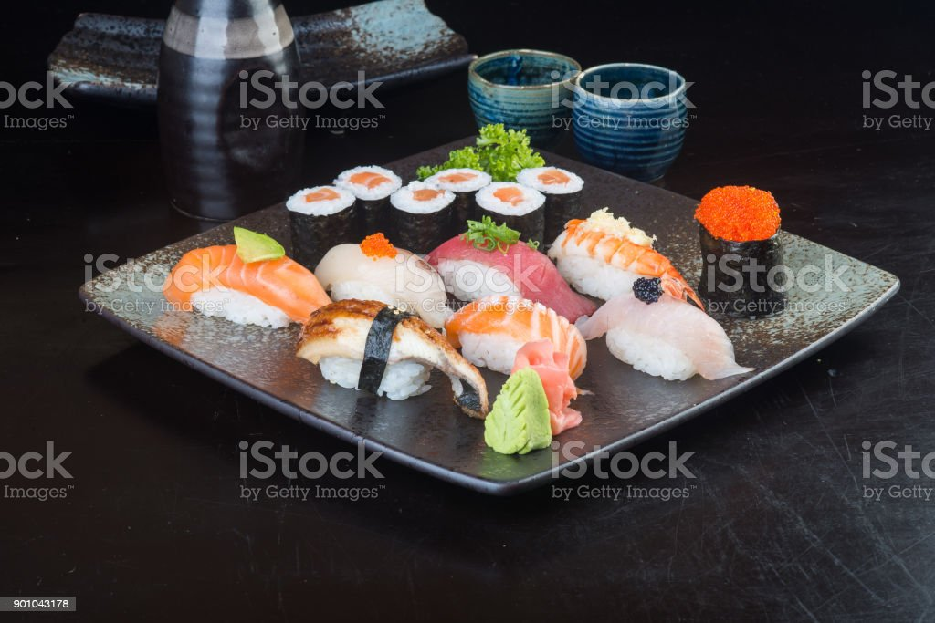 japanese food on a background. stock photo