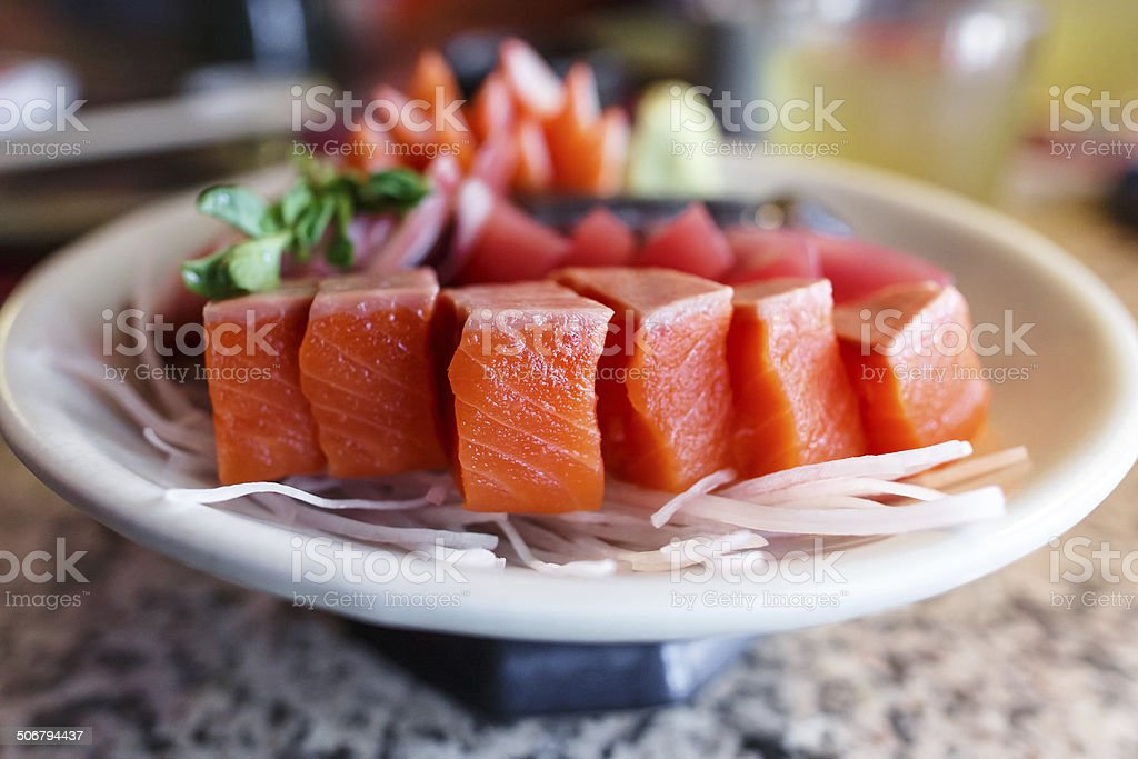 Japanese food sashimi set royalty-free stock photo