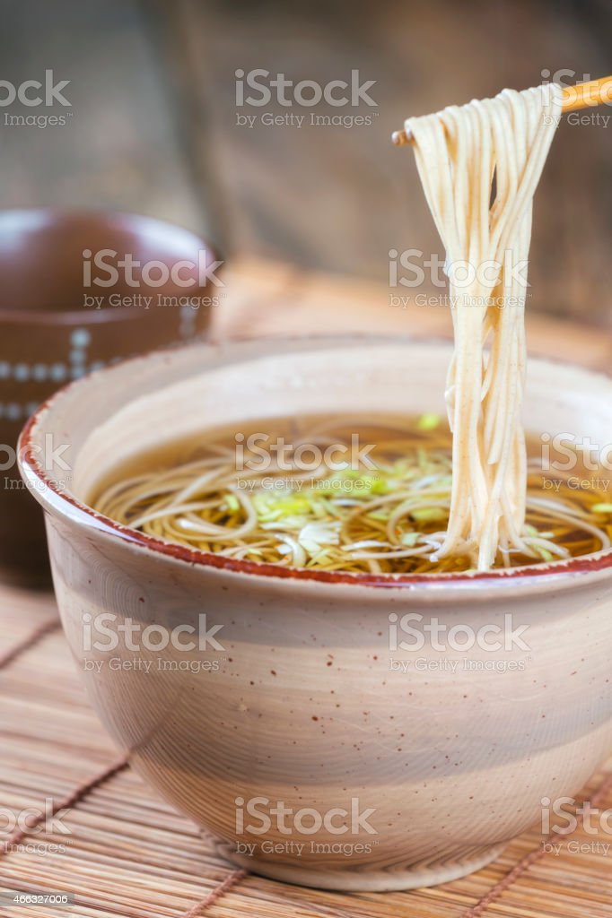 Japanese Food Soba Noodles stock photo
