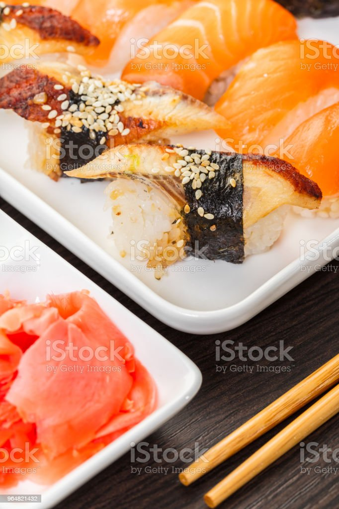 Japanese food, sushi set royalty-free stock photo