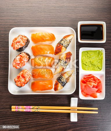 Japanese Food Sushi Set Stock Photo & More Pictures of Chopsticks