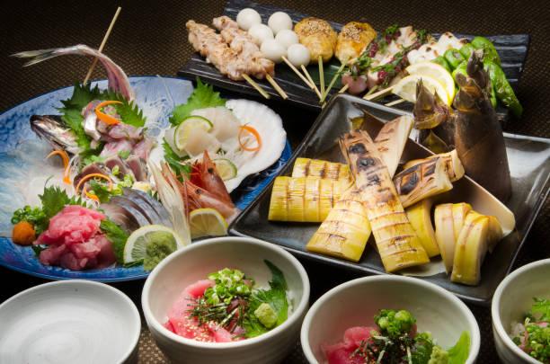 日本の食品表 - 和食 ストックフォトと画像