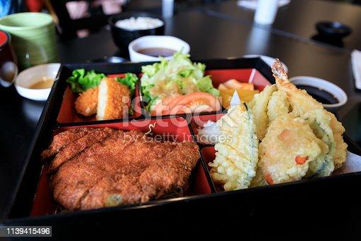 Japanese food, tempura on rice