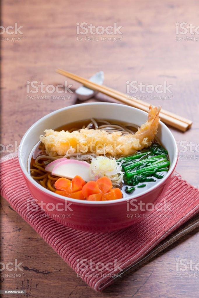 和食、天ぷらそば ストックフォト