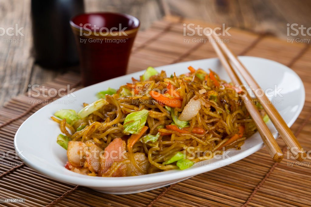 Japanese Food Yakisoba stock photo