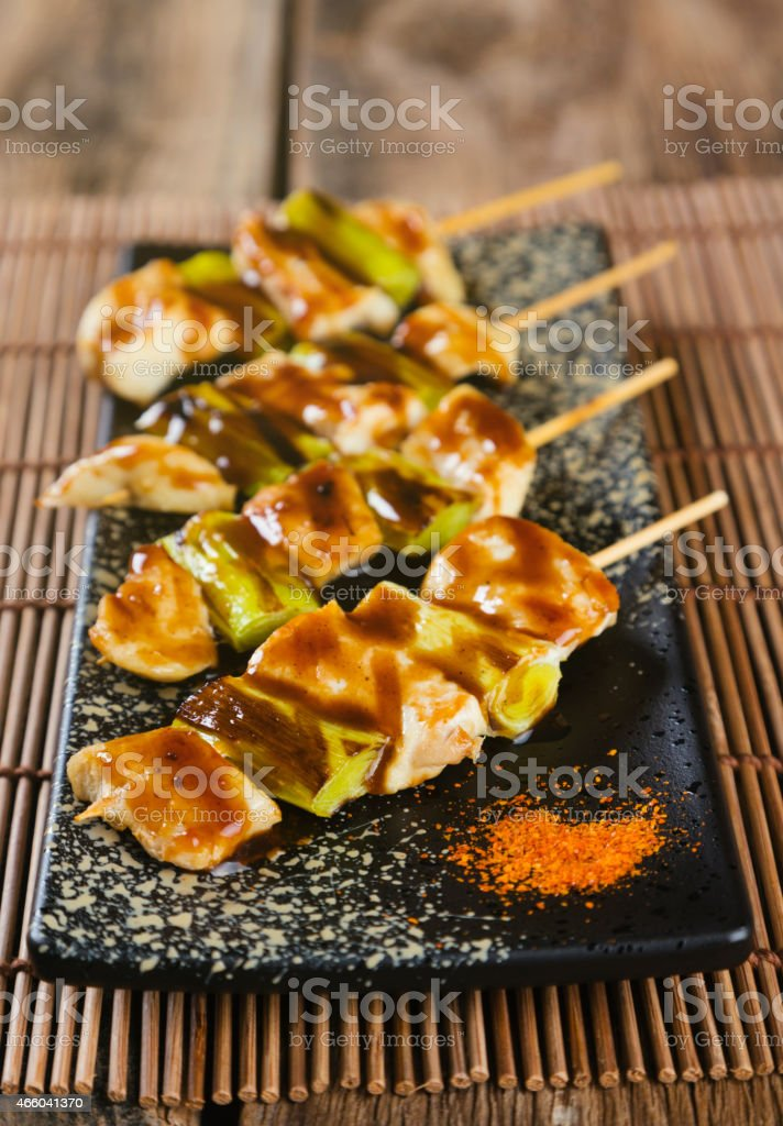Japanese Food Yakitori stock photo