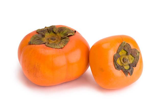 japanische persimone kaki - sharonfrucht stock-fotos und bilder