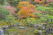 Kyoto, Japan - November 25, 2015: Ginkaku-ji, the \