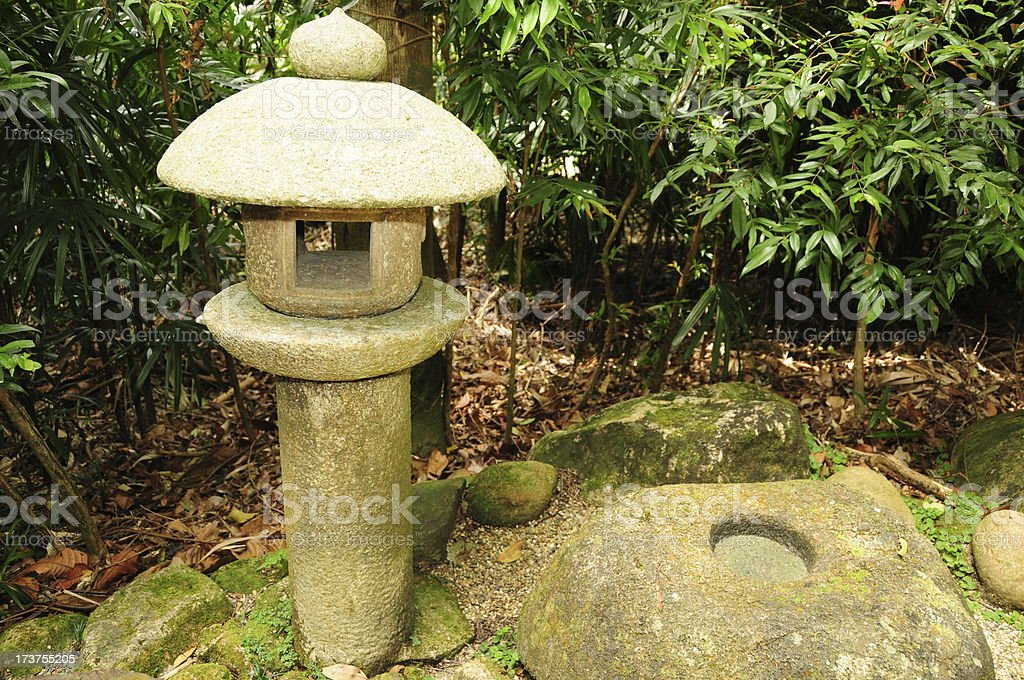 Japanese Garden   Decorations Royalty Free Stock Photo