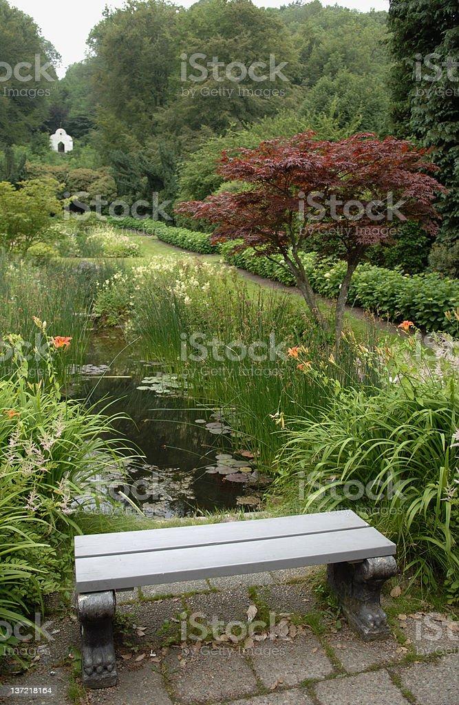 Japanese garden in Sweden royalty-free stock photo