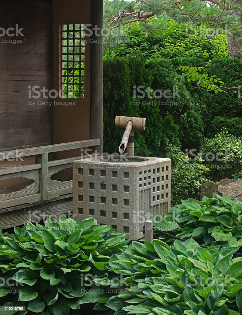 Japanese Garden Landscape stock photo