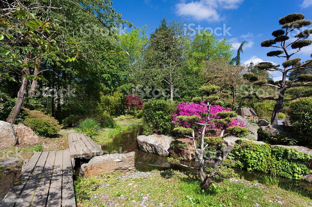 Japanese garden, Nantes stock photo