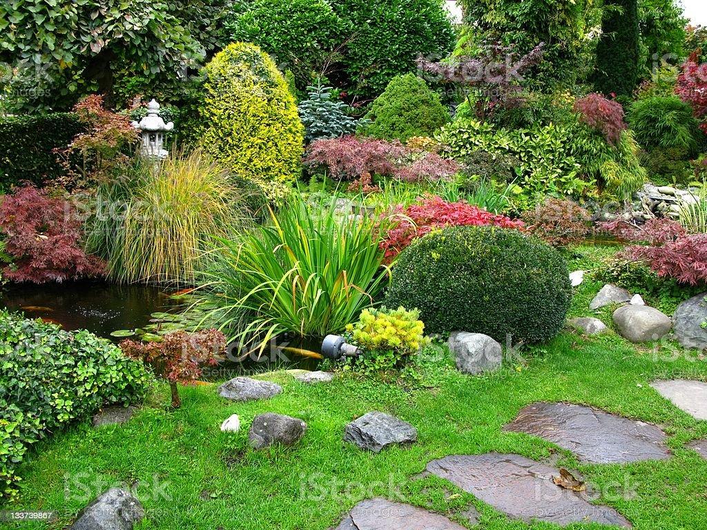 Japanese garden royalty-free stock photo