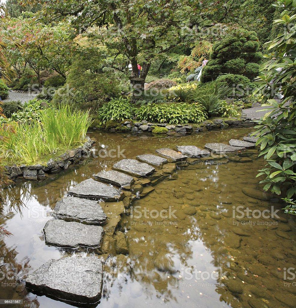 Japanese garden. royalty-free stock photo