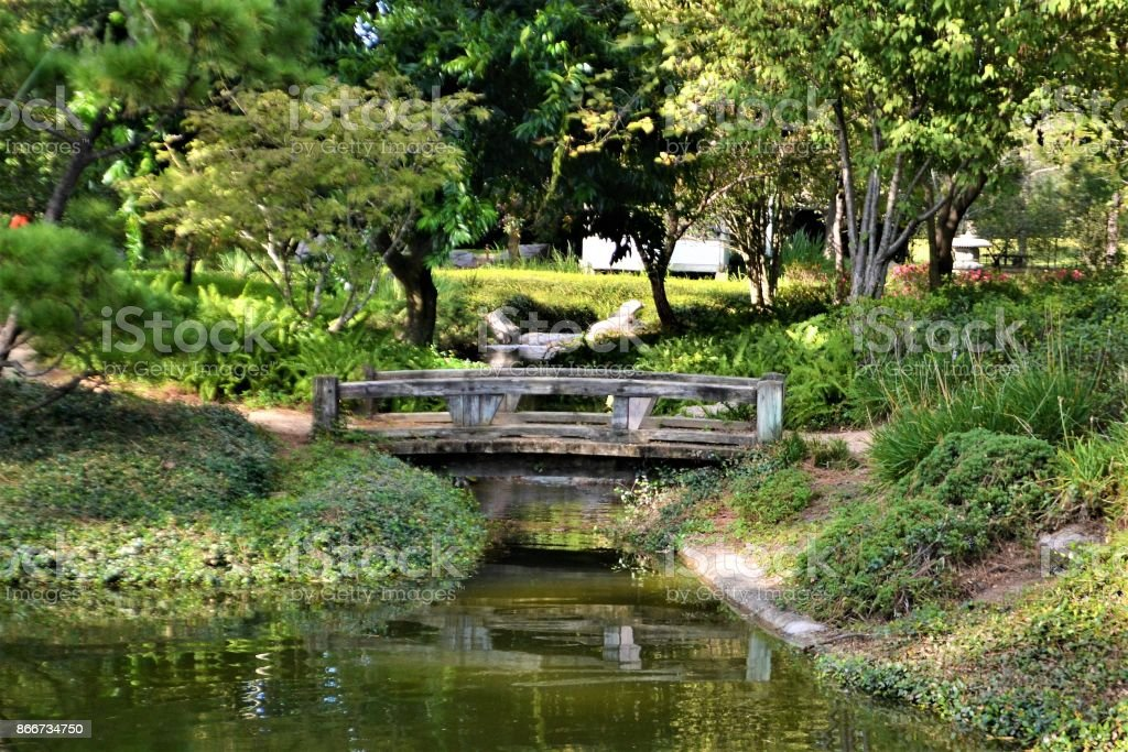 Japanese Garden, Texas stock photo