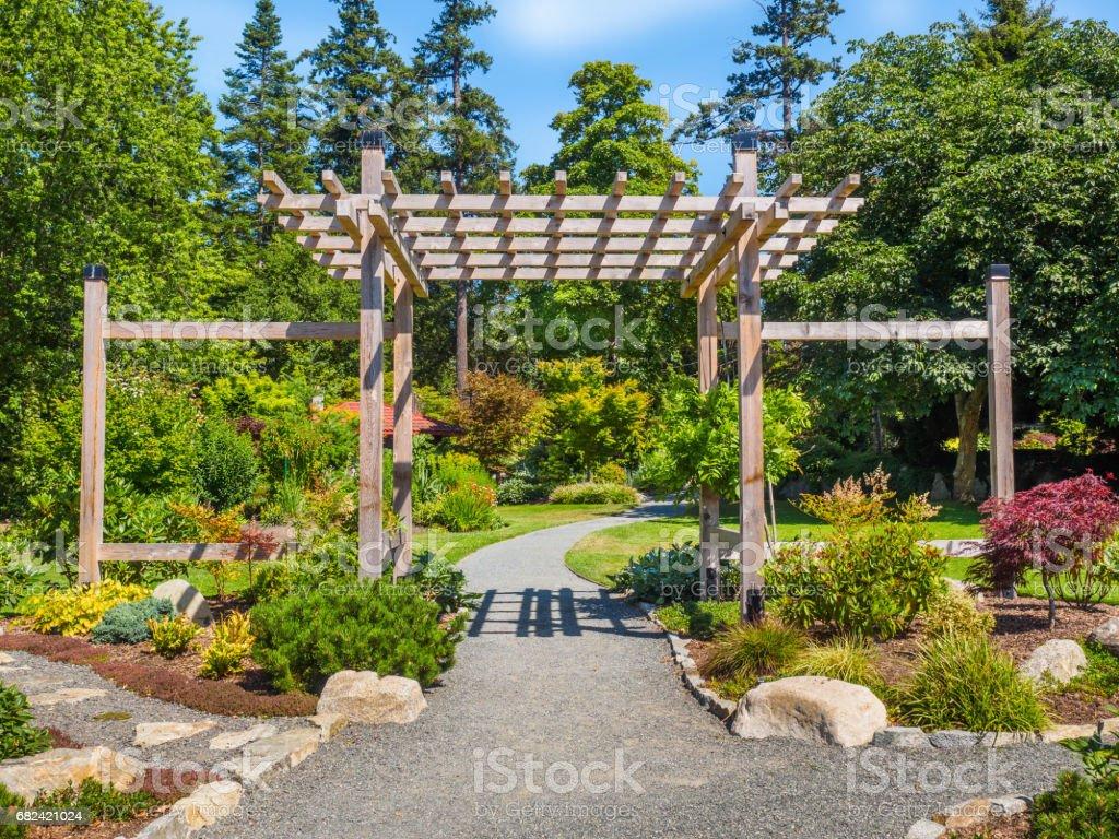 Japanese garden typical entrance, public park photo libre de droits