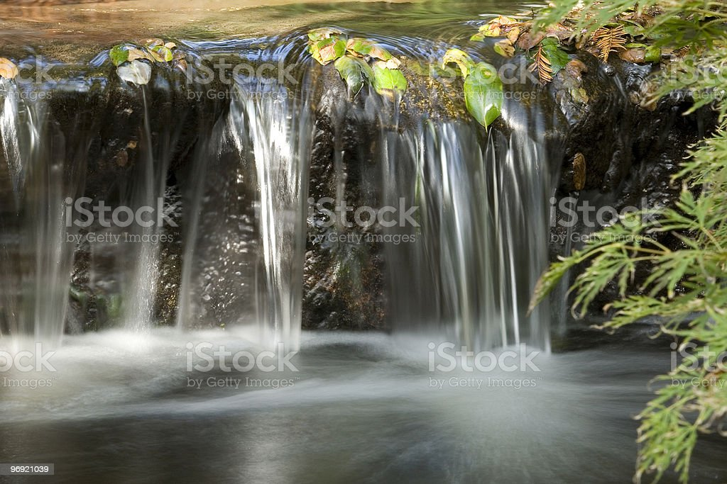 Japanese Garden waterfall royalty-free stock photo
