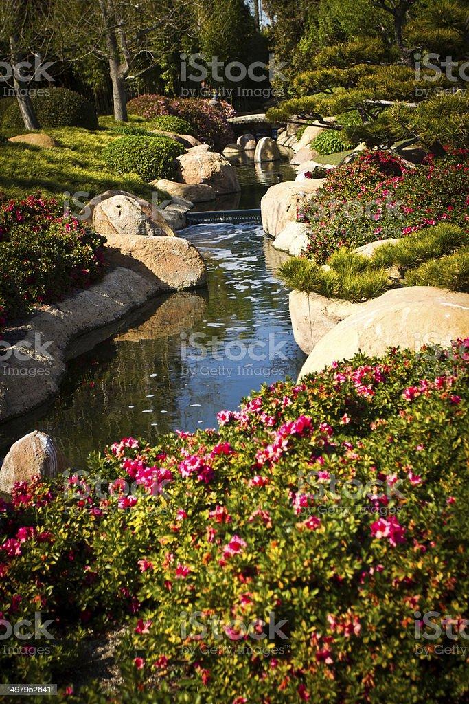Photo libre de droit de Jardin Japonais Avec Un Lac Et Le Salon De ...