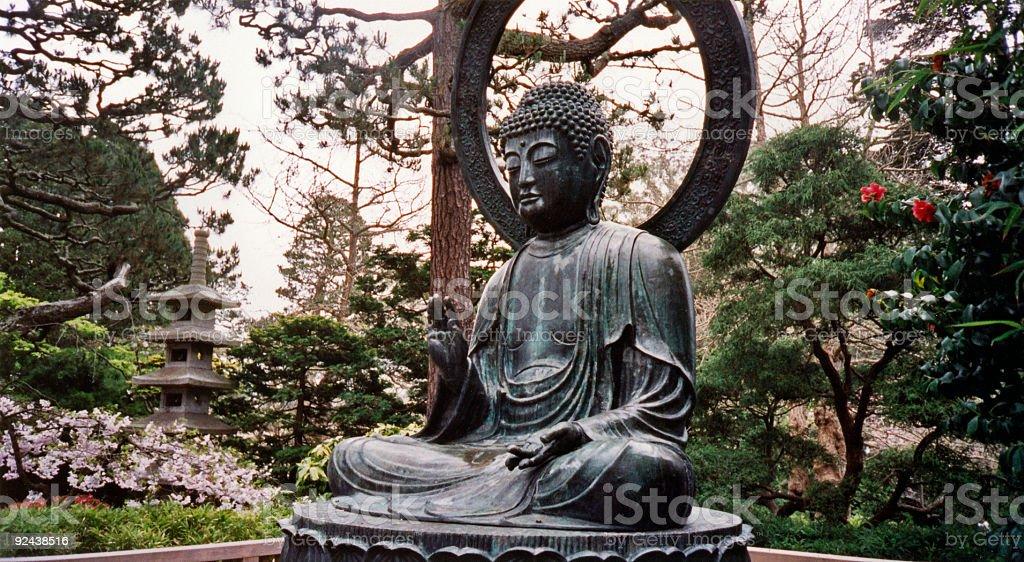 Los Jardines Japoneses Buda De San Francisco Fotografa de stock y