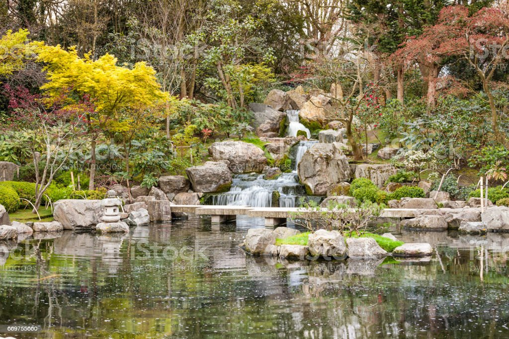 Japanese gardens, London stock photo