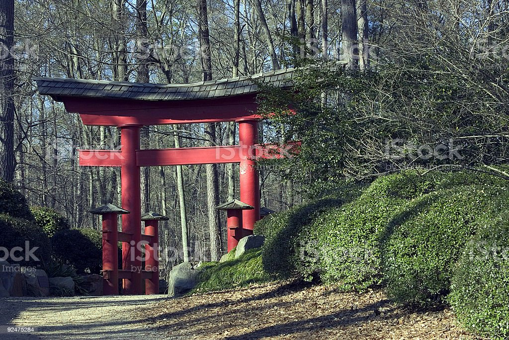 Japanese gardens royalty-free stock photo