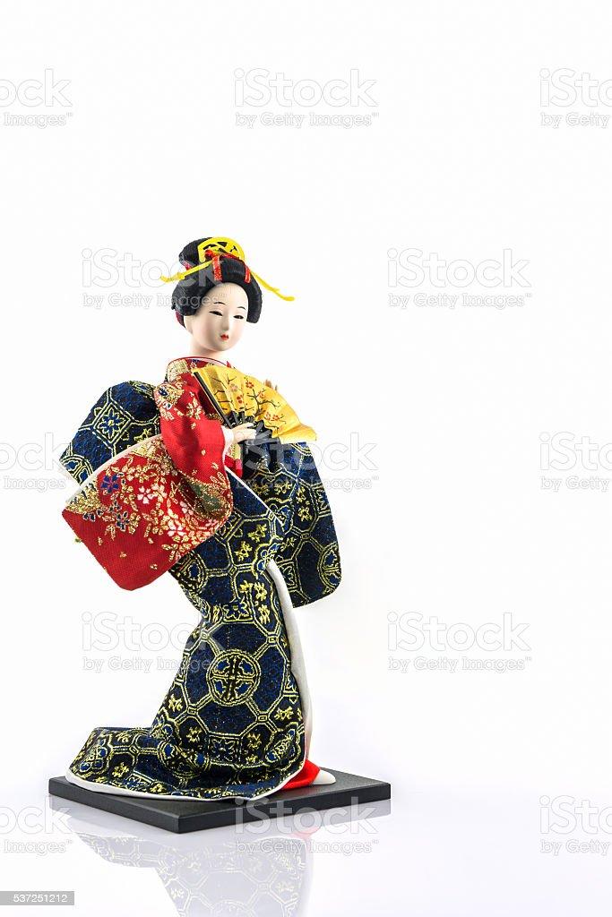 Japanese geisha dolls. stock photo