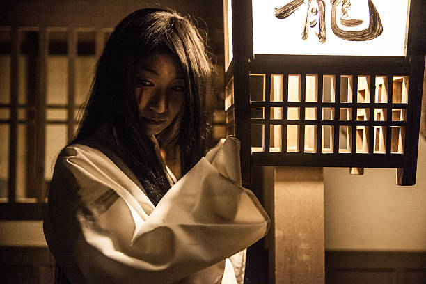 Japanese ghost in old town of Japan – Foto