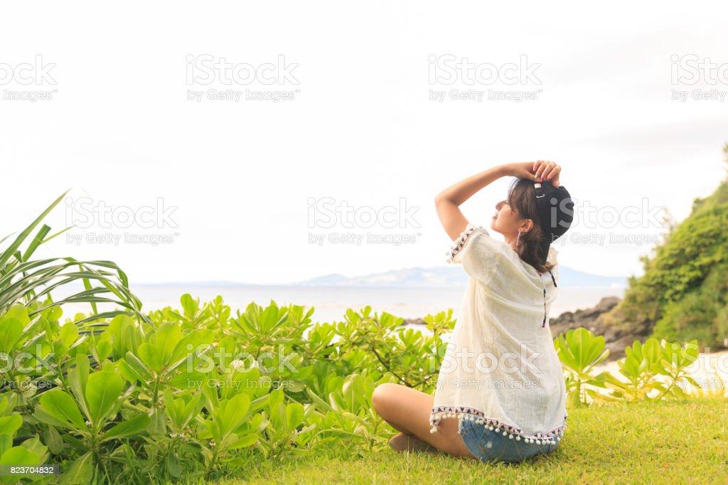 日本人の女の子。 ストックフォト
