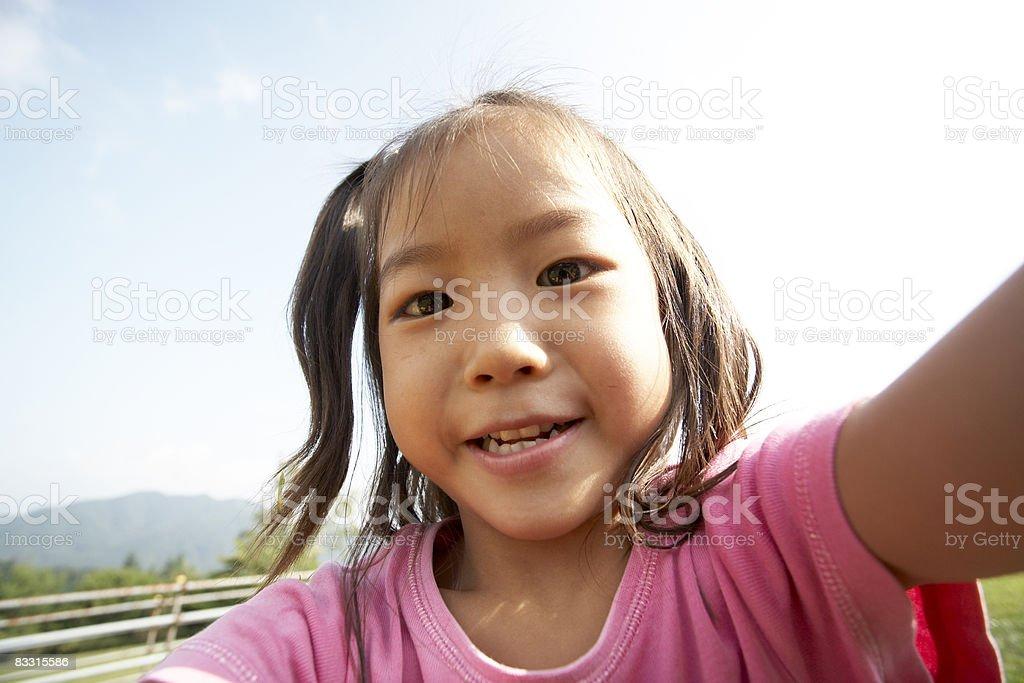 Japanese Dziewczyna uśmiech zbiór zdjęć royalty-free