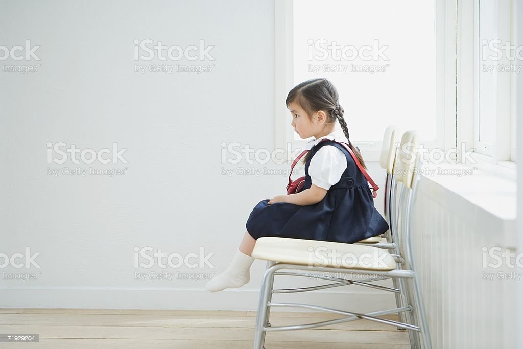 Japanese girl wearing school uniform royalty-free stock photo