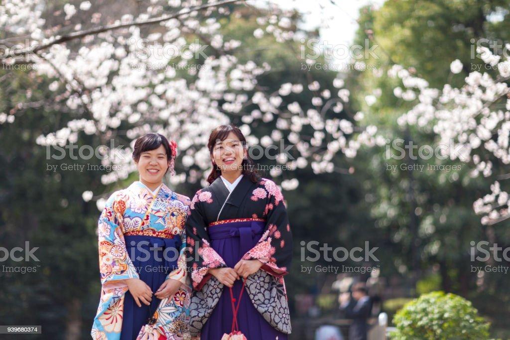 日本の卒業式 ストックフォト
