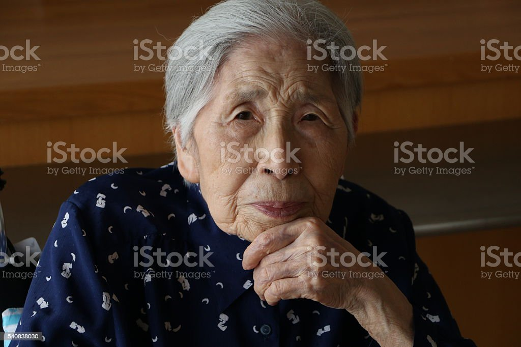 Japanese grandmother stock photo