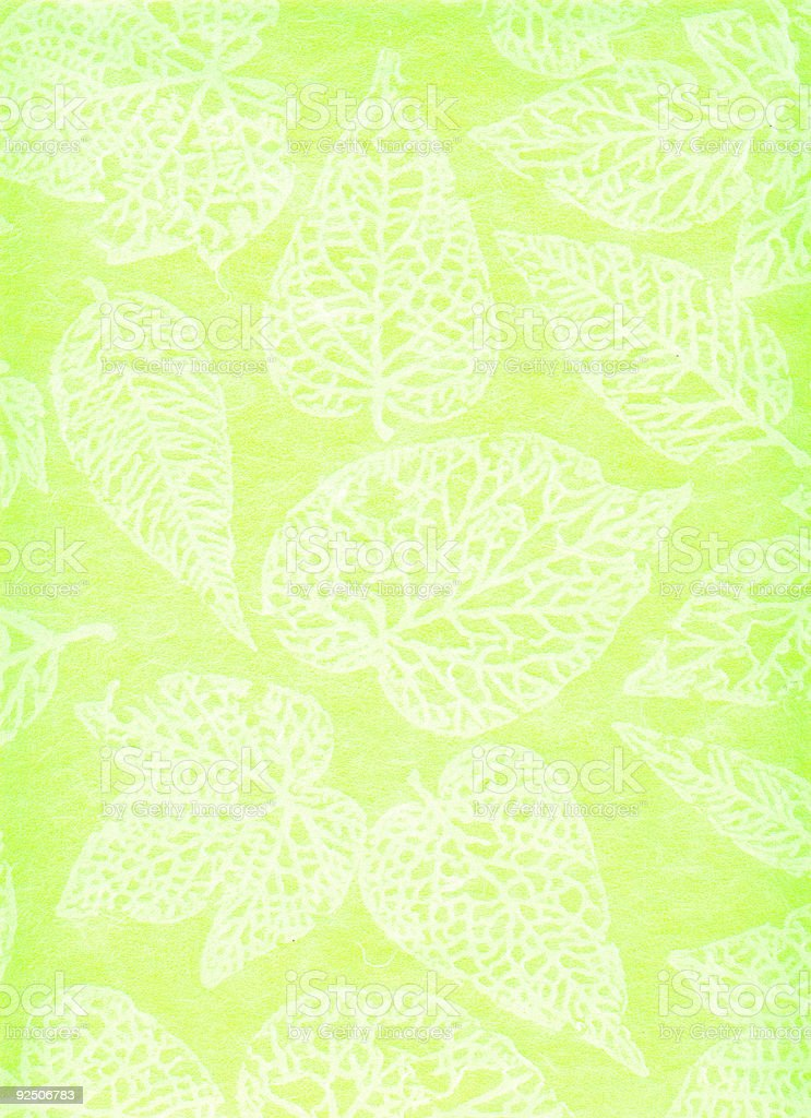 japanese hand made paper, green background 3 royalty-free stock photo