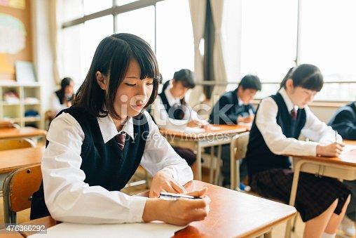 istock Japanese High School Students doing exams 476366292