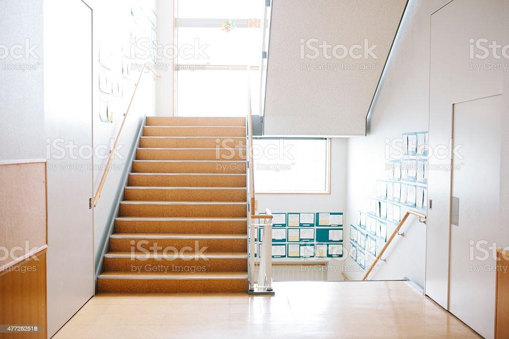 Japanische Highschool Treppe Und Flure Moderne Architektur