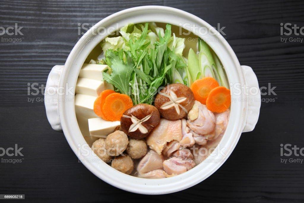 Japanese hot pot CHANKO-NABE stock photo