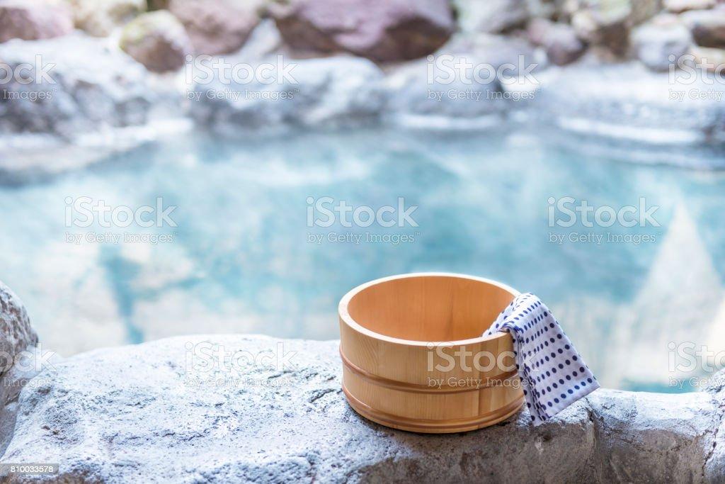 日本温泉、露天風呂 ストックフォト