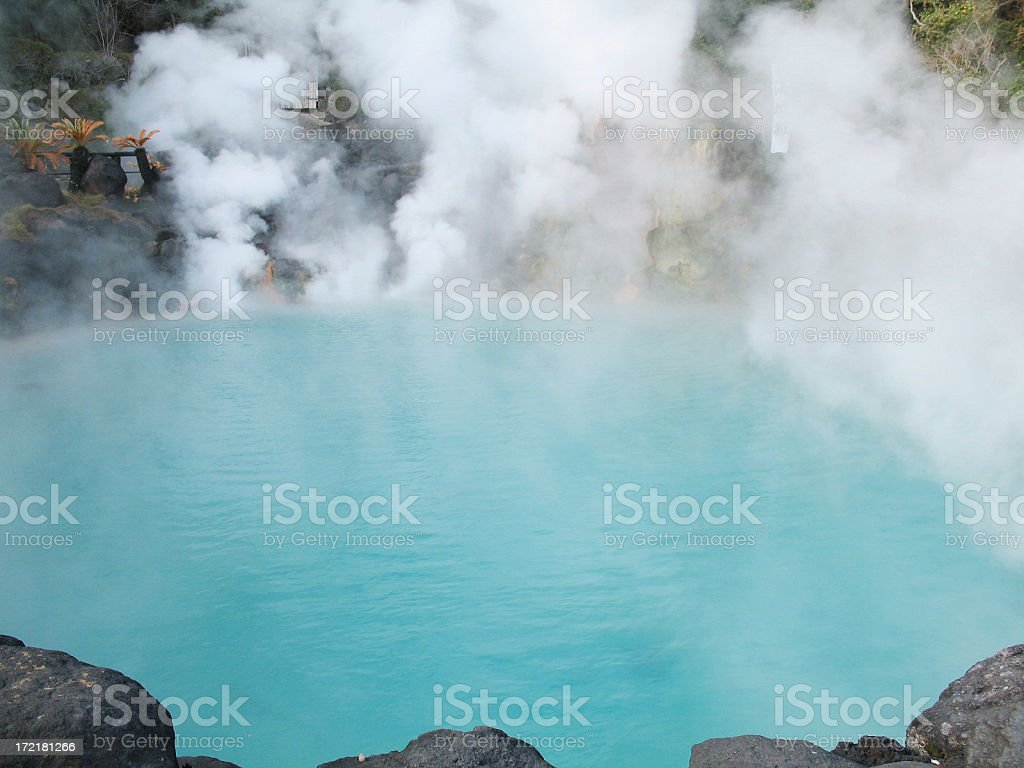 Japanese hot spring #1 stock photo