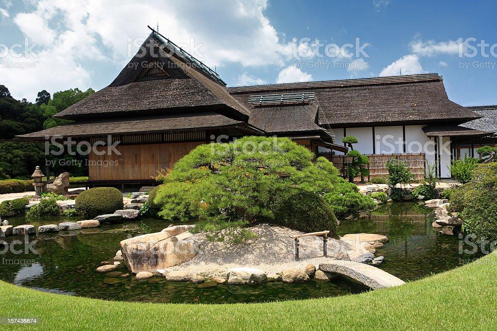Japanese house stock photo