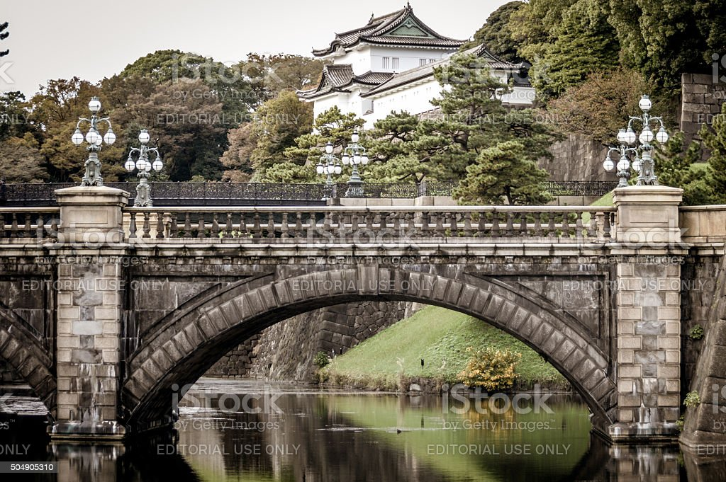 Japanese Imperial Architecture - Tokyo, Japan stock photo