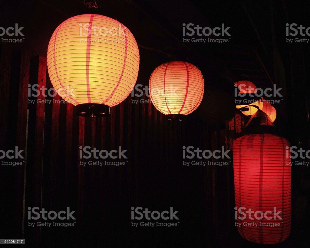 Japanese Izakaya Red Lantern stock photo