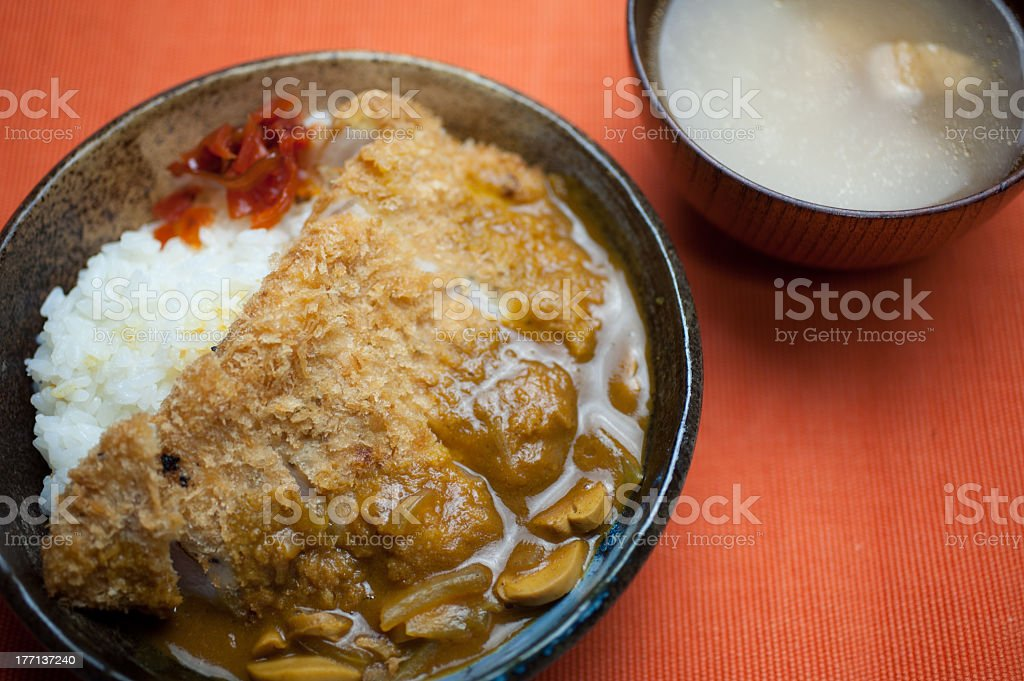 Japanese katsu karē (Curry) royalty-free stock photo