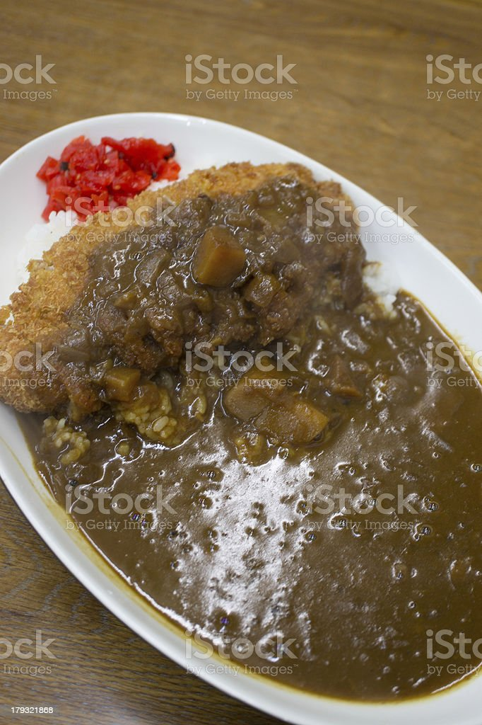 Japanese katsu karē (Curry) royalty-free stock photo