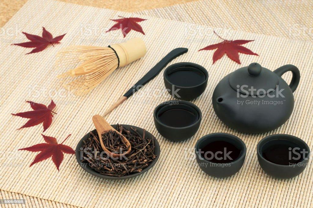 Japanese Kuchika Twig Tea stock photo