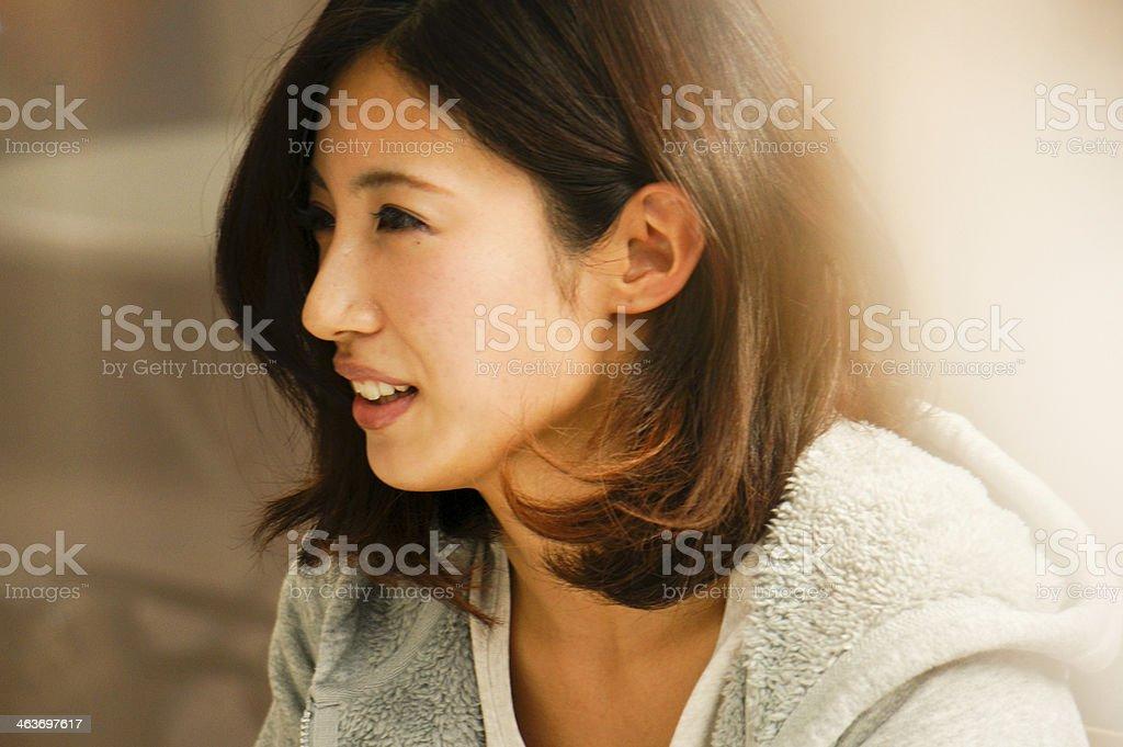 Japanese lady stock photo
