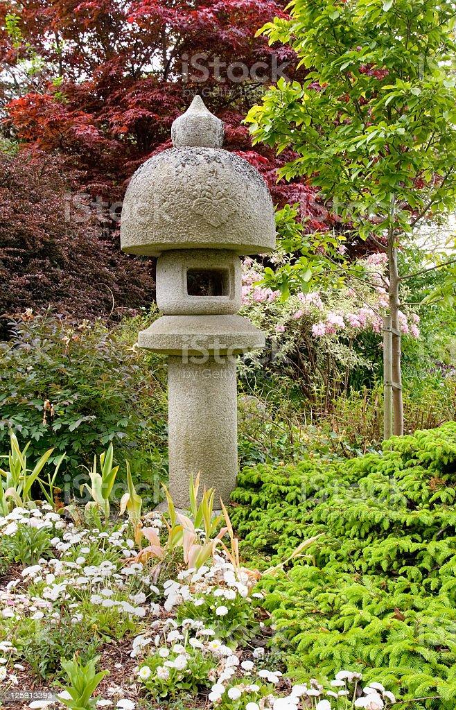 Japanese Lantern in Garden royalty-free stock photo