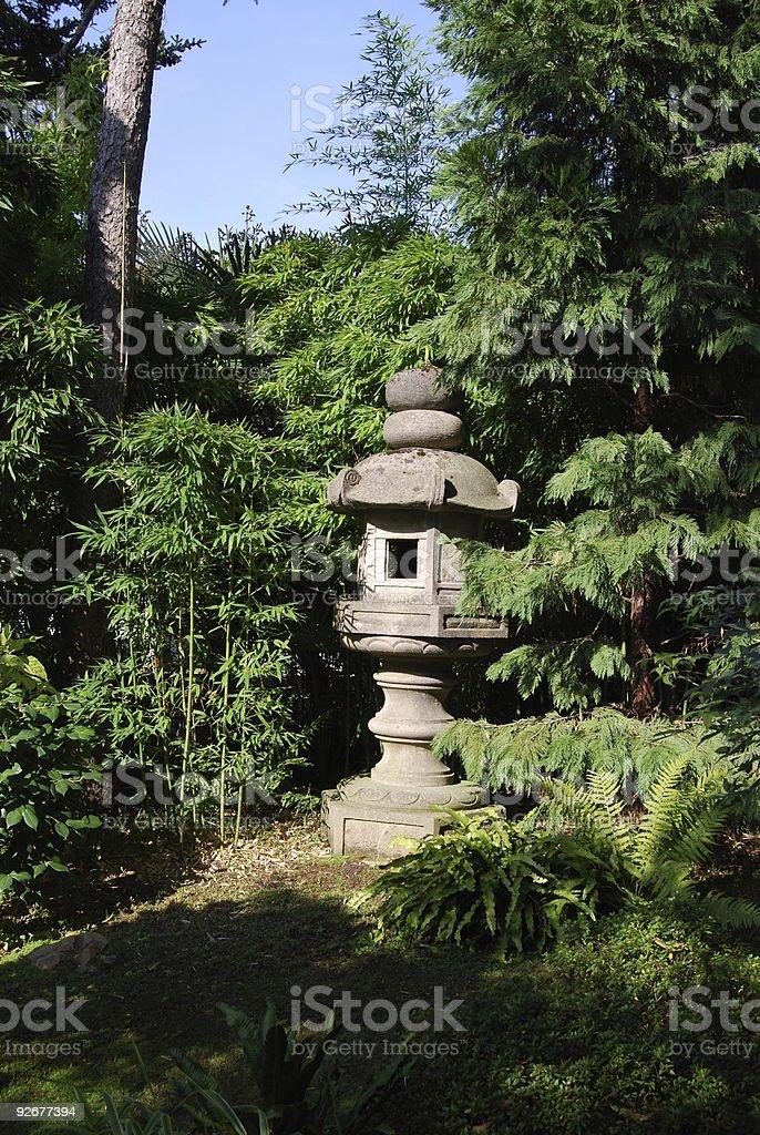 Japanese lantern royalty-free stock photo