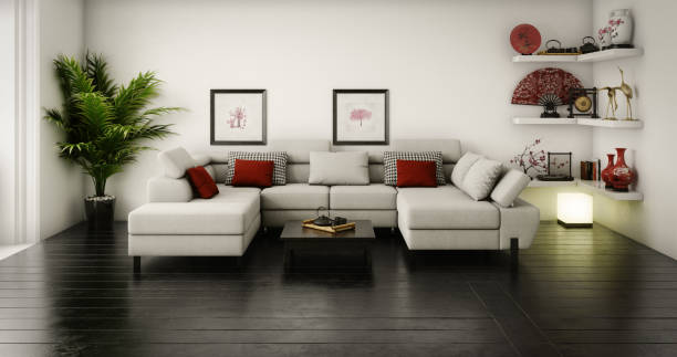 Japanese Living Room stock photo
