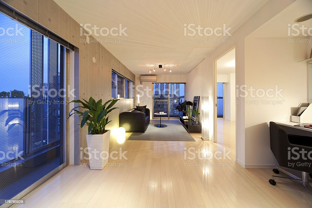 Japanese living room stock photo