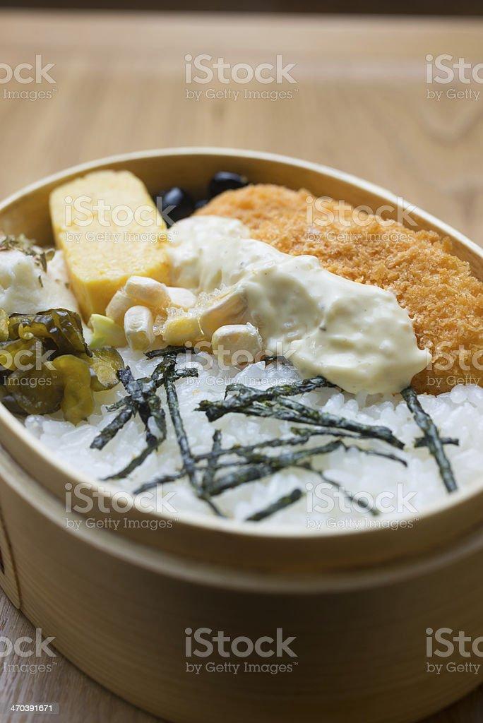 Japanese Lunch Box Magewappa Bento royalty-free stock photo